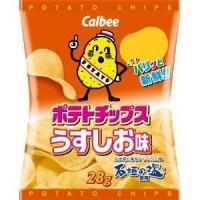 calbeeカルビー ポテトチップスうすしお味28g 24袋セット