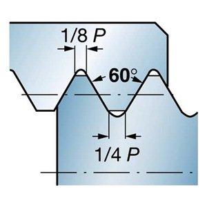 Sandvik Coromant CXS-04TH240UN-4215R 1025 PVD Coated Solid Carbide CoroTurn XS Threading Insert, UN Thread, 24 (Pack of 1)