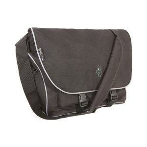 Pakuma Choroka K1 Messenger Bag piping for 15-17 inch Mac and PC Laptops - Black with Grey