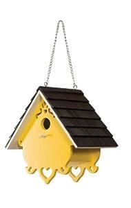 Le Petit Chalet LPC-12136B Love Nest Bird House - Yellow