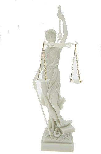 Edle Justitia Figur weiss Skulptur BGB römische Götter thumbnail