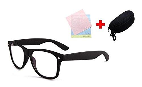 ブルーライト カット めがね 紫外線 99.9% カット メンズ レディース 兼用 マッド ブラック