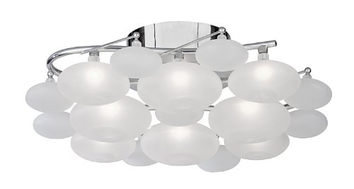Ceiling light - modern chrome halogen CTSL