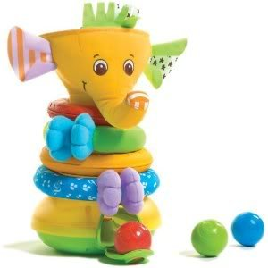 Toy / Game Amazing Tiny Love Musical Stack And Ball Game, Yellow Elephant With 2-In-1 Electronic Staking Toy front-933842