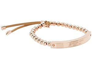 michael kors collection logo plaque stretch bead bracelet. Black Bedroom Furniture Sets. Home Design Ideas