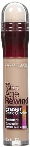 Maybelline New York Instant Age Rewind Eraser Dark Circles Treatment Concealer, Honey 40, 0.2-fluid…