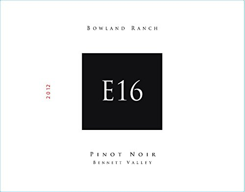 2012 E16 Bennett Valley Bowland Ranch Pinot Noir 750 Ml