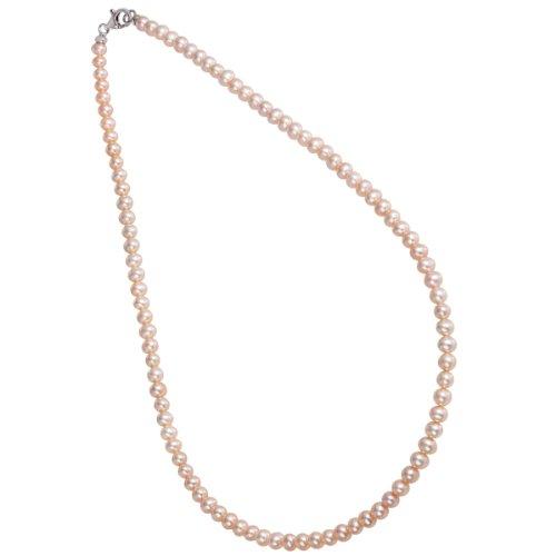 Bella Donna Damen-Collier 925 Sterling Silber Süßwasser Zuchtperlen rosa 4,5-5,0 mm 45cm 109752