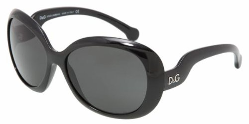 DOLCE & GABBANA D&G 8063 DD8063 501/87 BLACK PLASTIC GREY SUNGLASSES SHADES