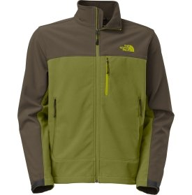 The North Face Apex Bionic Soft Shell Jacket - Men's-Grip Green/Black Ink Grn-XL by The North Face