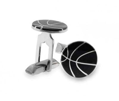 Superb Bling Jewelry Black Enamel Sterling Silver Mens Sports Basketball Cufflinks Alphanode Cool Chair Designs And Ideas Alphanodeonline