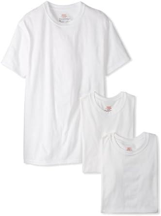Hanes Men's Classics 3 Pack Heavyweight Crew Neck T-Shirt, White, Small