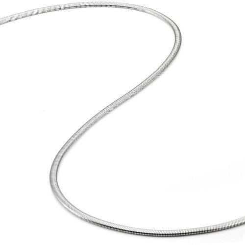 R&B Jewelry Stunning Snake Style Stainless Steel Mens Chain Necklace 3 mm