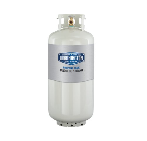 Worthington 302018 40-Pound Steel Propane Cylinder With Type 1 With Overflow Prevention Device Valve