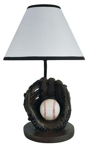 """15.75""""H Baseball Theme Ceremic Table Lamp front-649549"""
