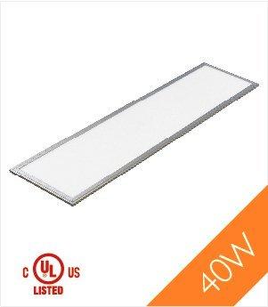 Troffer 1'X4' 40 Watt Ul, Dlc Led Panel Light, Cool White 4000K, 3300 Lumens, 4-Pack
