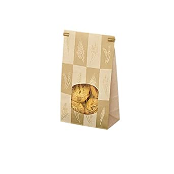"""Bagcraft Papercon 300247 Paper/Poly Stand Up Window Bakery Bag with Tin Ties Closure System, 2-lb Capacity, 9-1/2"""" Length x 6"""" Width x 2-3/4"""" Height, Artisan (Case of 500)"""