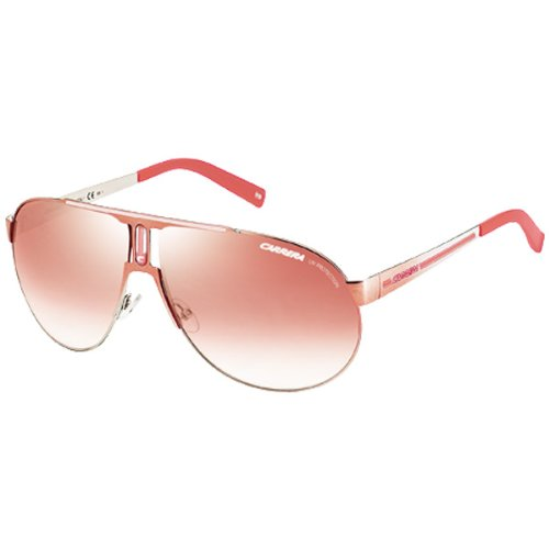 Carrera Panamerika 1/P/S Adult Casual Sunglasses – Color: Shiny Coral Smoke/Rose Smoke Mirror
