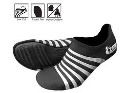 ZEMGEAR Playa Low Round Toe (MD (M 9-10/W 10-11), Black/Silver)