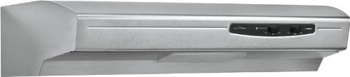 Broan Qse130Ss Under Cabinet Range Hood, Energy Star, 30-Inch, Stainless Steel