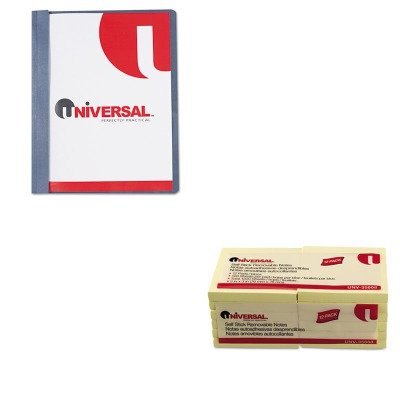 KITUNV35668UNV56138 - Value Kit - Universal Plastic Cover (UNV56138) and Universal Standard Self-Stick Notes (UNV35668) kitrlp74002unv55400 value kit roselle paper co premium sulphite construction paper rlp74002 and universal economy woodcase pencil unv55400