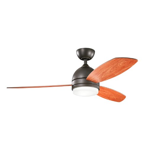 Kichler Lighting 300175Oz Vassar 52-Inch Ceiling Fan, Olde Bronze Finish With Reversible Cherry/Walnut, Blades And Integrated Downlight front-815354