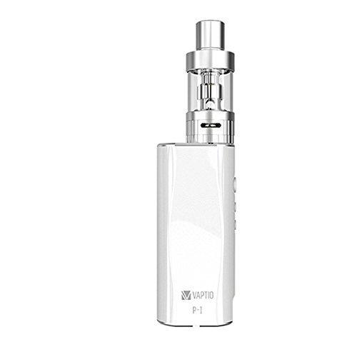 VAPITO-P1 Kit E sigaretta Box Mod 50W (bianco) - Voltaggio Variabile 2100mAh + flusso di aria regolabile (non contiene tabacco ne' nicotina)