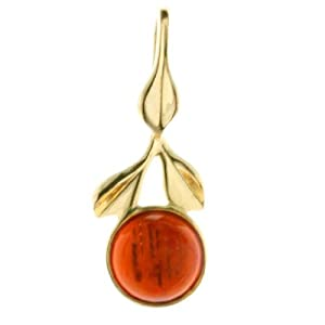 In Collections - 3100100360L100 - Pendentif Femme - Or jaune 333/1000 (8 cts) - ambre