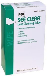See Clear® Quick Dry Eyeglass Cleaning Wipes, Anti-fog, Anti-Static, Box of 120