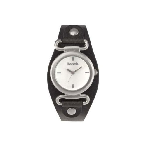 Bench White Dial and Black Strap Ladies Watch - BC0391WHBK