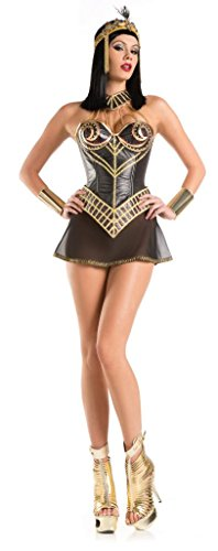 Costume Adventure Women's Sexy 4 Piece Cleopatra Egyptian Halloween Costume