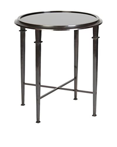 Prima Design Source Four-Legged Accent Table, Dark Bronze