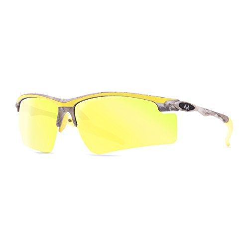 Realtree Drop Tine Sunglasses (Xtra/Yellow with Smoke/Gold Mirror Lens)