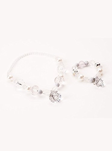 Little Adventures White/Crystal Diamond Set Chunky Costume Jewelry