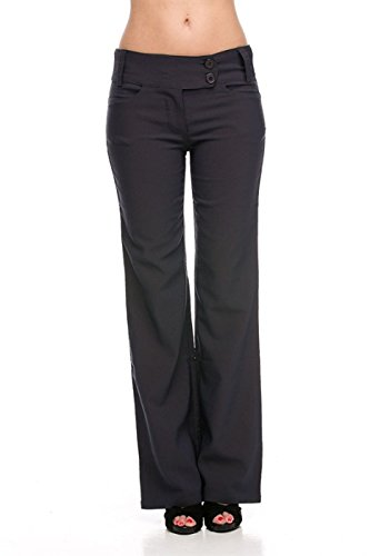 2LUV Women's Sleek and Trendy Dress Slacks