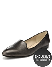 Autograph Leather Almond Toe Textured Shoes with Insolia®