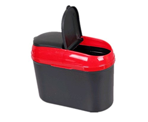 Brand New Mini Car Auto Dustbin Trash Can Garbage (Red) For Maruti Ertiga