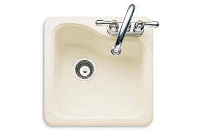 Buy American Standard Silhouette 1Eight-inch Americast Center Hole Island Sink, White Heat #7185.001.208 (American Standard Sinks, Plumbing, Sinks, Bar)