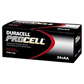 Duracell Procell Alkaline Batteries, AA Size Case Pack 24
