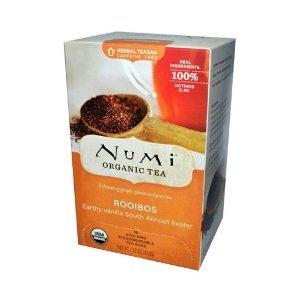 Numi Tea Organic Rooibos - Caffeine Free - 18 Bags (Pack Of 6)