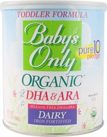 Nature'S One - Baby'S Only Organic Dairy Based Iron Fortified Toddler Formula With Dha And Ara - 12.7 Oz.