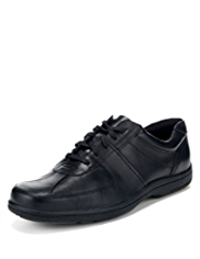Airflex™ Comfort Leather Lace Up Trainers