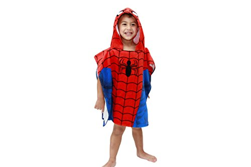 Marvel Ultimate Spider Man Hooded Poncho Towel For the Bath or the Beach