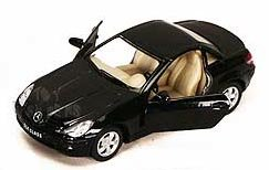 Mercedes Benz SLK R171 Diecast Toy Car - 1:32 Scale - Black - 1