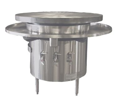 Town Food Service Mbr-42 Ng 42 In Mongolian BBQ Range, Cast Iron Flat Top W/ Cast Iron Deflectors, Ng, Each