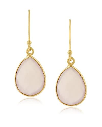 Adoriana 12 Cttw Rose Quartz Pear Shape Earrings
