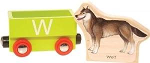Wooden Alphabet Train : W (Wolf)