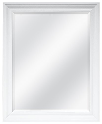 MCS White Rectangular Wall Mirror, 26-Inch by 32-Inch