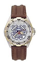COAST GUARD LOGO ALL STAR LEATHER MEN'S WATCH