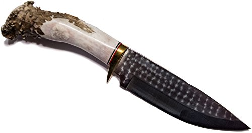 "5.5"" Fixed Blade Antler Handle Drop Point Knife"